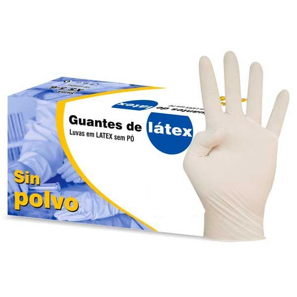 Guantes latext sin polvo